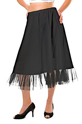 weißer oder schwarzer Trachten Petticoat Unterrock 70 cm knielang, Tüllrock Trachten Unterrock...