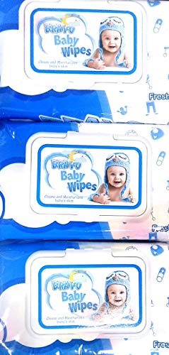 Panda Baby Wipes Wet - 240 Cotton Sheets 3 Packs