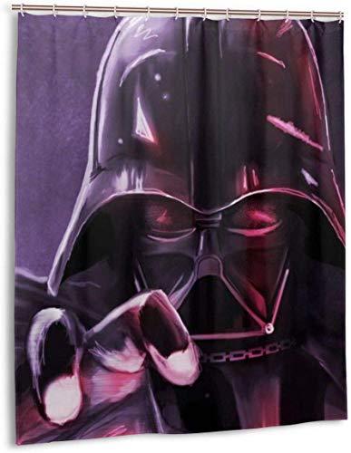 milkcolor St-AR_Wa-rs Darth Vader Duschvorhang Liner Wasserdichtes Polyestergewebe Duschvorhang Duschvorhang aus Stoff 12 Haken 60 x 72 Zoll