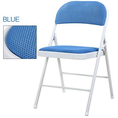 Chairs Erru Mode Chaise Pliante/Ménage décontracté Ordinateur Bureau Chaise de Salle à Manger (44 * 46 * 76 cm, Couleurs en Option), Bleu, 6 Pieces