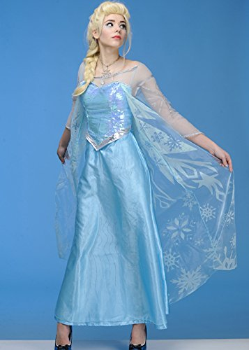 Magic Box Int. Womens Disney Frozen ELSA Kostüm Large (UK 16-18) (Womens Elsa Kostüm)
