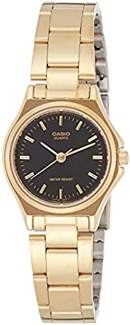 Casio Women's Black Dial Stainless Steel Band Watch - LTP-1130