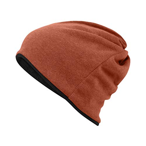 Nosterappou Komfortable Herbst- und Wintermützen für Männer und Frauen, hautfreundliche Stoffe, elastischer Kopfumfang, winddicht und warm, multifunktionale Kleidung, Schutz für Kopf und Ohren vor kal