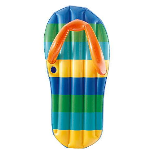 Blue Wave Strand Gestreift Flip Flop 1,3 cm, 180 cm aufblasbar Pool Float (Kinder Blue Flop Flip)
