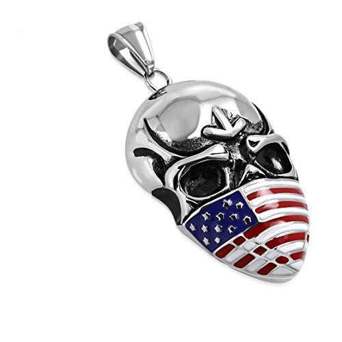 NRG 316L Schmuck Edelstahl 5-Ton-Amerikanische Flagge Maskerade Maske -