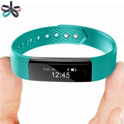 VeryFit Id115 tracker de fitness/moniteur de sommeil/suivi  d'activité/podomètre (Bleu sarcelle)