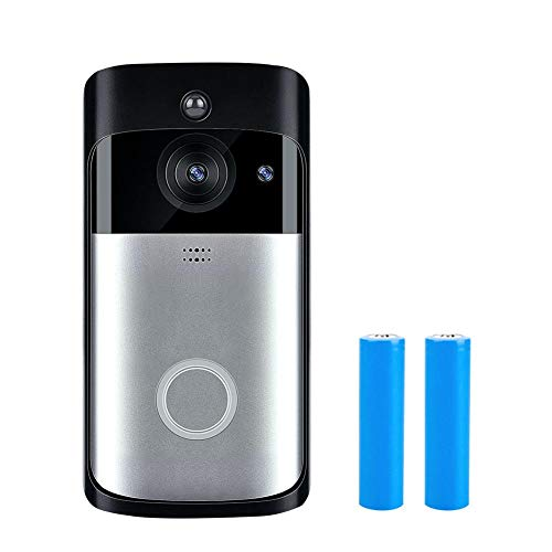 Visual Intercom (YouN WiFi DoorBell 720P Visual Intercom Night Vision Door Phone (Black+Battery))