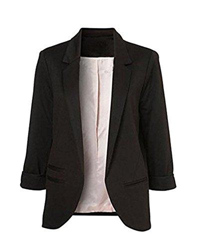 LuShmily Women's Boyfriend Blazer Tailored Suit Coat Jacket Test