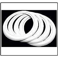 """4 X 15"""" ATLAS Garniture d insertion de pneu à mur blanc additionnelle Portawalls. Baques Blanches"""