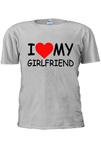 I Love My Girlfriend Girl Friend Heart Tumblr Fashion Unisex T Shirt Top Men Women Ladies-M