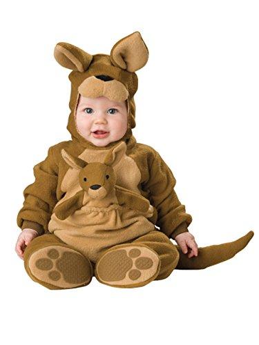 Känguru Tier Baby Kostüm 3-24m Long Sleeve Flanell ONE PIECE BABY Kleidung Baby Strampler