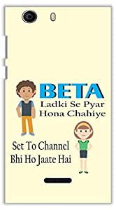 Crazy Beta HINDI FUNNY QUOTESPrinted Back Cover For Micromax Canvas Nitro 2