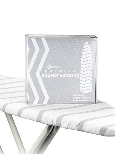 KIBAGA Bügelbrettbezug aus Baumwolle für Dampfbügeleisen 120x40 cm - Für Schnelles und Leichtes Bügeln
