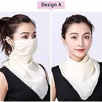 4Clean - Pañuelo de cuello de chifón con diseño I máscara facial con protección UV I pañuelo multifunción para moto y ciclismo I máscara de protección bucal con diseño para mujer