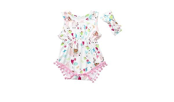 Watopi Elegante Pagliaccetto Neonata Unisex Bambina Tutina Pagliaccetto Beb/è 0-24 Mesi