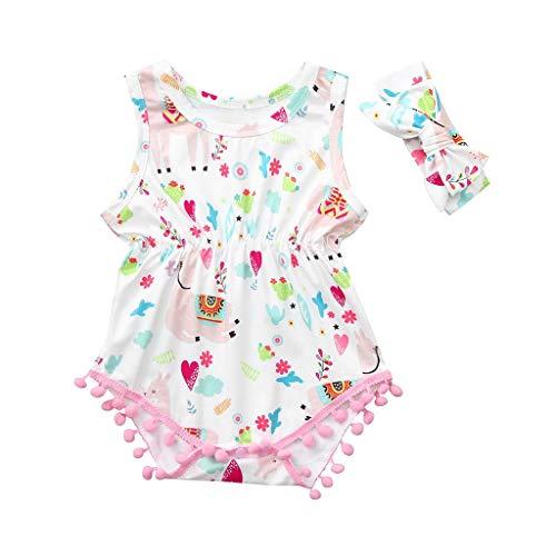 (Stern Baby Strampler MäDchen 0-24monate Bodysuit Outfits Pwtchenty Volltonfarbe RüSchen Sleeveless Overalls Bekleidung)