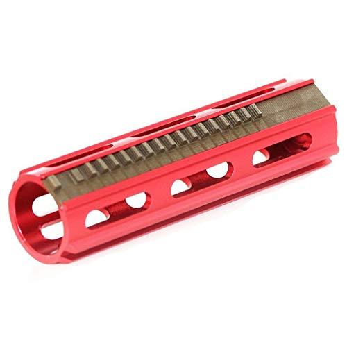 Airsoft Softair CNC Voller Stahl 19 Zähne Kolben für R85/SR25 Serie AEG Red (Airsoft Stahl Kolben)