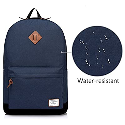Men's Backpack, Kasgo School Backpack Fits 15.6 inch Laptop Casual Daypack Navy Blue - casual-daypacks