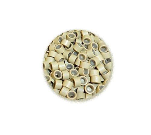 Kiara H&B Lot de 100 anneaux en silicone pour extensions capillaires Blond 5 mm