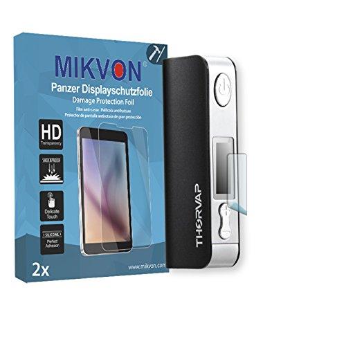 2x Mikvon Pellicola alta protezione del display per THORVAP iBox TC 60W Pellicola Protettiva - Confezione ed accessori
