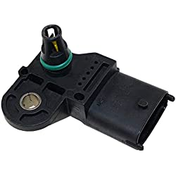 73503657 0281002845 MAP Sensor - SINOCMP 0281002437 3 Bar Original Boost MAP Sensor for Opel Vauxhall Astra G H Signum Vectra C Zafira 1.3 1.9 Cdti