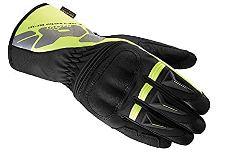 Motorbike Motorcycle Spidi IT Alu-Pro WP Leather Gloves Waterproof Riding Touring Glove -Blk/Yellow-Special Order - Yellow - 4XL