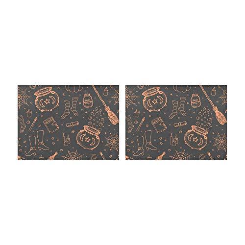 Tischsets Magic Books Brille Hut Socken und Stiefel Tischsets 2er-Set rutschfeste waschbare Kaffeematten Hitzebeständige Küchentischsets für den Esstisch Indoor Outdoor 14 x 19 cm (35 x 48 cm)
