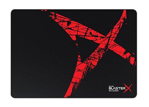 Creative Sound BlasterX AlphaPad Special Edition Hochleistungs-Gaming-Mauspad (mit genähten Kanten) schwarz/rot