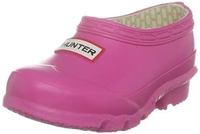 Hunter Original Clog Kids Fuchsia Wellington Boot W24021 10 Child UK