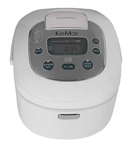 KeMar Kitchenware KIC-180 Reiskocher, Multikocher, Induktion, 1,300 W, 1,8 Liter, Timer, 12 Programme