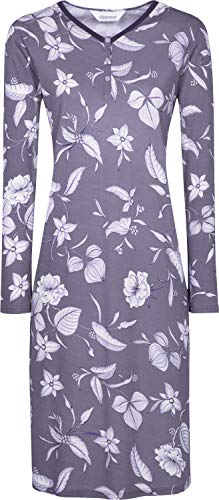 Charmor Damen-Nachthemd Interlock-Jersey lila Größe 46