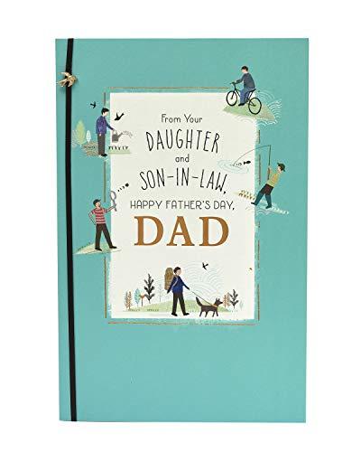 Biglietto per la festa del papà, papà da figlia e genero, regalo per lui, festa del papà, biglietto regalo