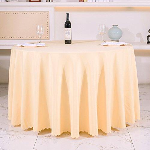 Very good KHotel Tischdecken Runden Tischdecke,Dickes Reines Schwarzem Tisch Tuch,Tischdecke Stoff Hochzeitshotel-E Durchmesser300cm(118inch)
