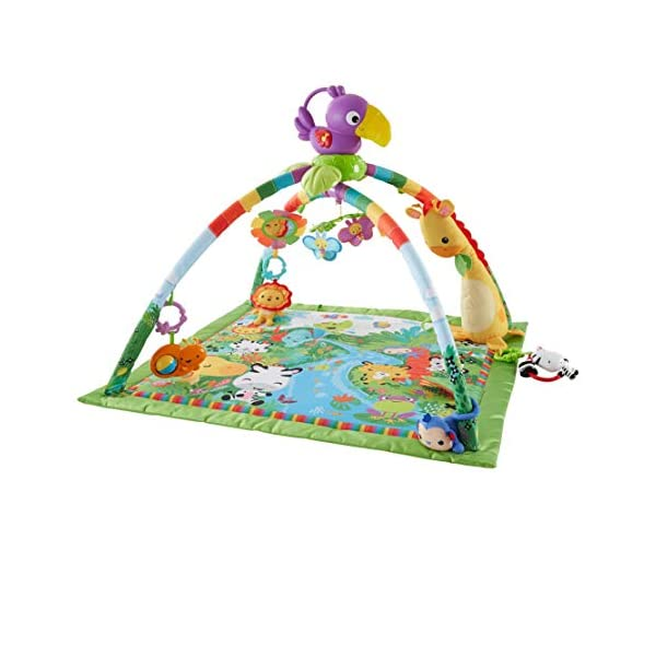 Fisher-Price DFP08 Rainforest Gym, Baby Playmat with Music and Lights, Suitable from Birth for New-Borns 1
