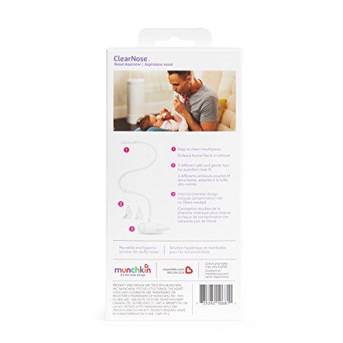 Munchkin CosieNosie Baby-Nasensauger mit Aufbewahrungsbehälter und 3 verschiedenen Aufsätzen - 7