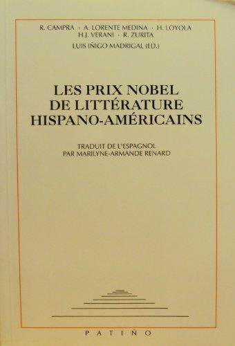 Prix nobels de littérature