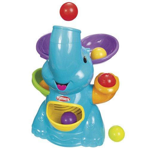 Playskool - Elefante lanzador de bolas con música, color azul (Hasbro 31943148)