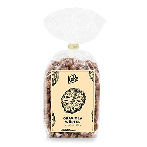 Graviola Würfel ● Stachelannone Mit Apfelsaft Gesüßt ● Ungeschwefelt ● 250 g Packung ● KoRo