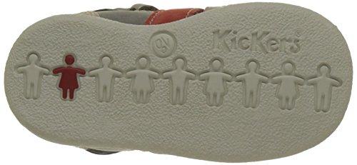 Kickers Babysun Baby Mädchen Babyschuhe - Krabbelschuhe & Puschen Gris (Gris Clair Corail)