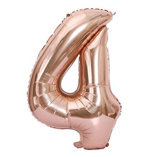 40 Zoll Große Größe Anzahl Aluminiumfolie Ballons Hochzeit Alles Gute Zum Geburtstag Party Dekoration Rose Gold Ballon Liefert