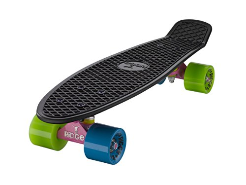 Ridge Skateboard Mix It Up Serie Mini Cruiser Board Komplett Fertig Montiert, Rad: Schwarz/Rosa/Blau/Grün, 55 cm, 0786471336861 (Camo Mischung)