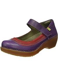 El Naturalista Nc78 Soft Grain Purple-Rioja-Tibet/ Tricot, Mary Jane Para Mujer