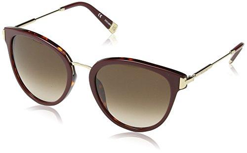 Escada Damen Cateye Sonnenbrille, Gr. One Size, Dark Burgundy Havana Frame / Brown & Pink Gradient Lens