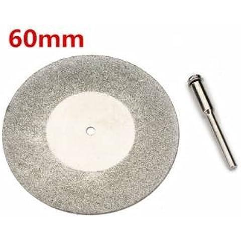 diamante di 60mm diametro del disco di taglio dei metalli ruota per dremel utensile rotante con albero 1 arbor - Taglio Wet Saw