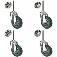 Coldene Castors Laufrolle LTD–Heavy Duty Stem Lenkrolle Stück 4x Lenkrolle Räder–Plus Gratis Stiel und Mutter