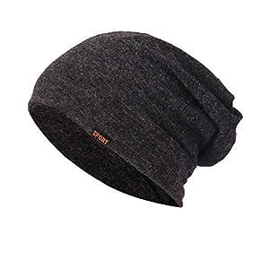 ☺HWTOP Männer Frauen Baggy Warm Crochet Winter Wolle Strick Ski Beanie Skull Slouchy Caps Hut Strickmütze Haufen Hut Ohr Warme Mütze