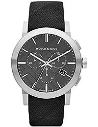 97d2be1deb78 Burberry Homme 42mm Chronographe Noir Tissu Bracelet Date Montre BU9359
