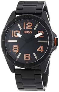 BOSS Orange Herren-Armbanduhr XL Berlin Analog Quarz Edelstahl beschichtet 1513001