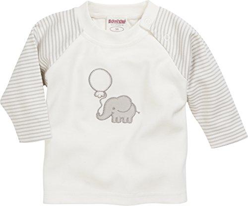 Schnizler Unisex Baby Sweatshirt Langarmshirt Elefant Geringelt, Oeko-Tex Standard 100 Beige (Natur 2), 62