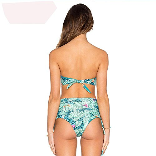 femminile stampa floreale Push-up Halter Bikini picture color